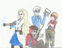 The Big Four: TF2 Crossover by ZaraSkypainter
