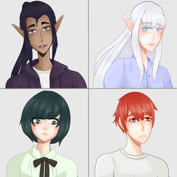 All of my characters drawn terribly by Nelyak05