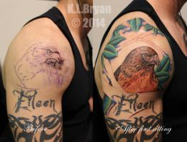 Shoulder cap coverup sitting one by danktat