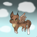 Fizzy The Flying Angel Cat by indieroses
