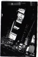 times square at night by mikina