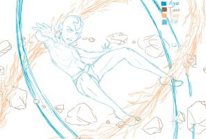 Aang in lines by ReneFelem