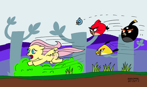 Angry Bird Chase - Color by Cartoon-Eric