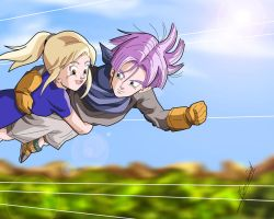 Commission: Ina and Trunks by Sersiso