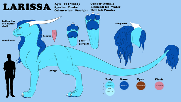 Larissa Reference Sheet by Lowrider-Girl