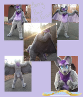 Berry Bat Fursuit by rebeccathejolteon