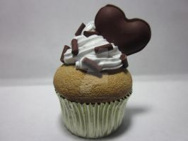 Polymer Clay Chocolate Cupcake by Darklunax110