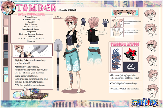 Timber - One Piece OC [Reference Sheet] by Fyurama