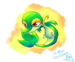 Snivy by summermon