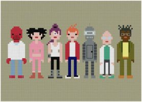 Futurama cross stitch pattern by avatarswish