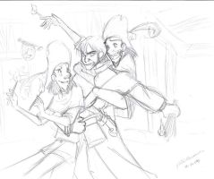 Clopin and Javert Sketch by Crispy-Gypsy