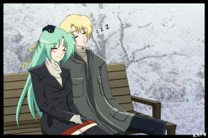 Winter Date: Shion and Satoshi by fortykoubuns