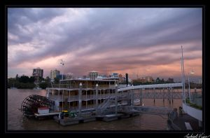 Brisbane River Paddle Boat by robertvine