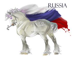 Horse Hetalia:  Russia by Moon-illusion