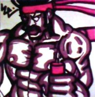 Black Dynamite Wields Chuks Post-It by dark-es-will