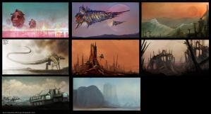 Thumbnail / Composition Sketches by Devin87