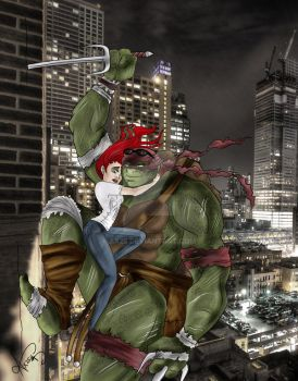 Red Alert...Raph and Red... by Ax25