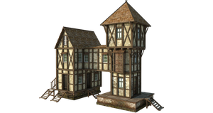 Medieval House 1b | PNG by fumar-porros
