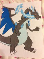 Mega charizard x by griffin126