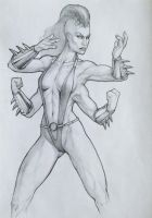 MK9 Sheeva sketch by Machay