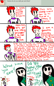 Ask- Why Hisoka stalks Gon and Killua by CCPizza-Productions