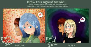Draw this again! meme: Kirsten and Slate by Dawny05