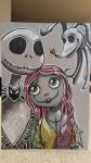 Jack, Sally and Zero by moonshadebutterfly