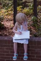 Namine and her notebook by Mciff-Cosplay