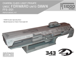 Halo 4 - UNSC Forward Unto Dawn Paper Model by RocketmanTan