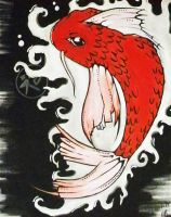 just another koi fish by onlyontheoutside