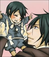Ciel baby And Earl Vincent Phantomhive by Akne-chan