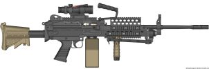 M249 SAW by firetruckboy