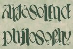 Ambigram - Art Science - Philosophy by Abstract-scientist