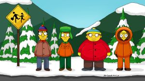 South Park-Simpsons now! by JS-Coach