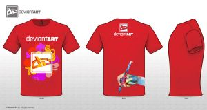 deviantart t shirt red by Faisalharoon