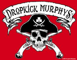 Dropkick Murphys Pirate Skull by yummytacoburp69