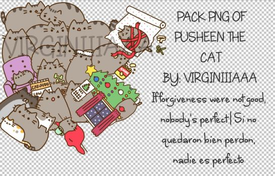 Png pack of Pusheen The Cat by : VIRGINIIIAAA by VIRGINIIIAAA