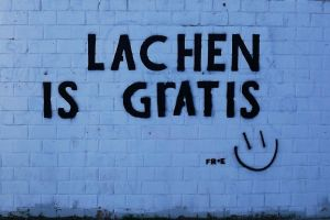 Lachen is Gratis - Smiling is Free by Velvet-Lies