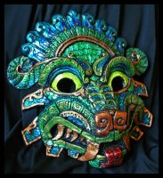 Quetzalcoatl Molded Mask by Namingway