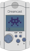 Sega Dreamcast VMU by BLUEamnesiac
