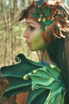 Dryad Headdress and Wings by Beadmask