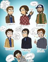 Supernatural Characters of Season 7 by xxshikamaruxxluverxx