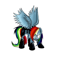 Corrupt Rainbow Dash by ElectricHalo
