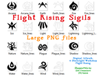 Flight Rising Element Sigil Large PNGs by CheeseStorm