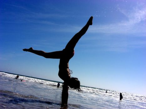 Handstand on the Beach by crsgrl1223