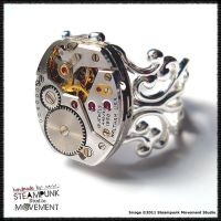 Steampunk Ring 22 by SoulCatcher06