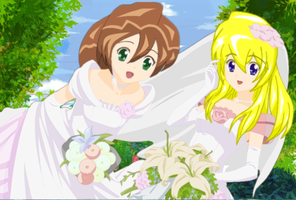 Megaman X Brides Alia and Iris by Bladezero25