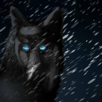 Glowing blue in a cold night by BlackLightning95