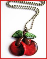 Tattoo Cherry Necklace by cherryboop