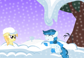 Playing in the Snow (answer) by Lumorn